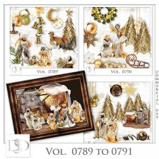 Vol. 0789 to 0791 Christmas Nativity Mix by D's Design
