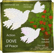 Action - Dove of Peace by Rose.li