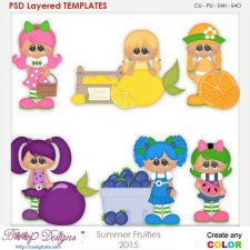 Summer Fruties Layered Element Templates