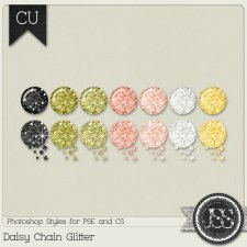 Daisy Chain Glitter PS Styles by Just So Scrappy