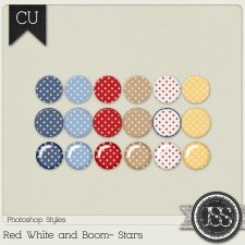 Red White and Boom PS Styles Bundle by Just So Scrappy