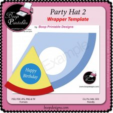 Party Hat 2 TEMPLATE by Boop Printable Designs