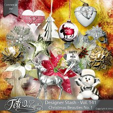 Designer Stash Vol 141 - Christmas Beauties No 1 by Feli Designs