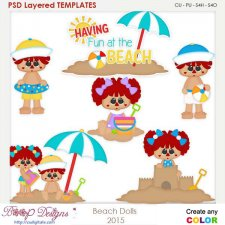 Beach Dolls Layered Element Templates