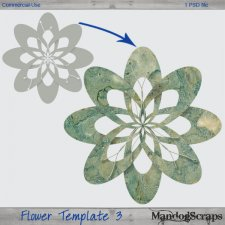 Flower Template 3 by Mandog Scraps