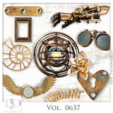 Vol. 0634 to 0638 Steampunk Mix by D's Design