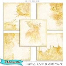 Classic Papers 8 Watercolor by Kastagnette