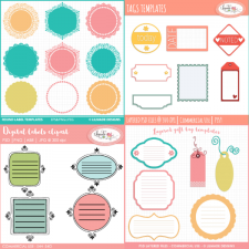 Label and tags templates bundle Lilmade Designs