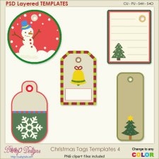 Christmas Tag Layered TEMPLATES 4