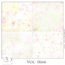 Vol. 0666 Floral Papers by D's Design