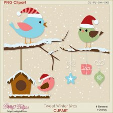 Tweet Winter Bird Clipart