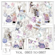 Vol. 0803 to 0807 Winter Christmas Mix by D's Design