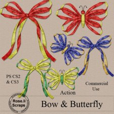 Action - Bow & Butterfly by Rose.li