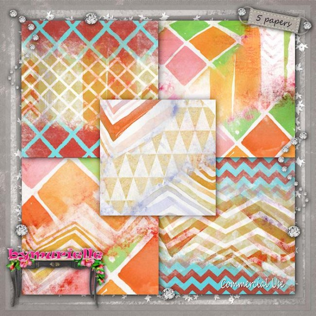 PAPERS Vol 110 Geometric 3 EXCLUSIVE byMurielle