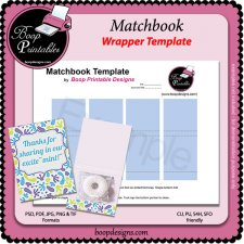 Matchbook Wrapper TEMPLATE by Boop Printable Designs