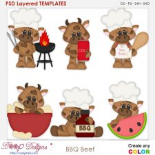 BBQ Beef Layered Element Templates
