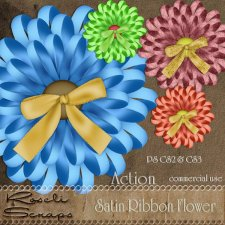 Action - Satin Ribbon Flower by Rose.li