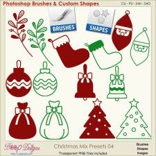Christmas Brush & Shape PRESETS 04