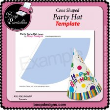 Party Hat TEMPLATE by Boop Printable Designs