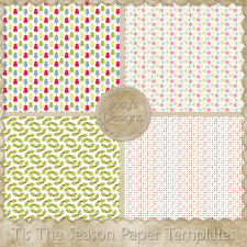 Tis The Season Paper Layered Templates by Josy