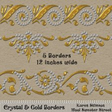 Crystal & Gold Borders by Karen Stimson