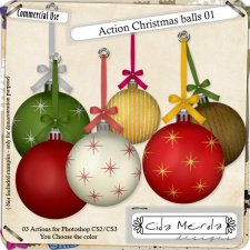 Christmas Balls 01 Action by Cida Merola