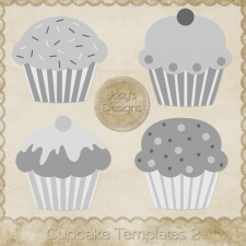Cupcake Layered Templates 2 by Josy