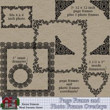 Page & Photo Frame Overlays, Set1--Karen Stimson