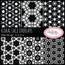 Floral lace overlays Lilmade Designs