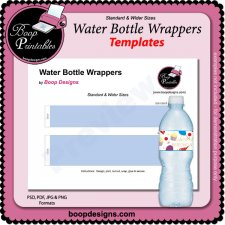 Water Bottle Wrapper TEMPLATE by Boop Printable Designs