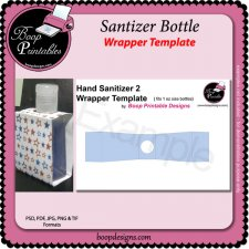Hand Sanitizer Bottle Wrap TEMPLATES by Boop Printables