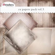 Papers Vol 3 Brown by Strawberry Designs