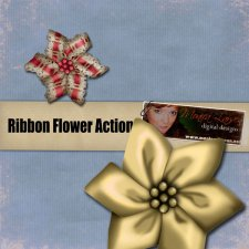 Ribbon Flower Action by Monica Larsen