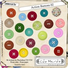 Buttons 02 Action by Cida Merola