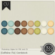 Caffeine Fix Cardstock PS Styles by Just So Scrappy