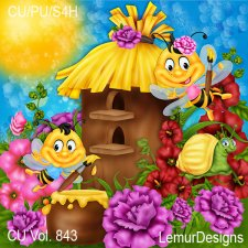 CU Vol 843 Bees by Lemur Designs
