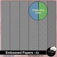 Embossed Pattern PAPERS 03 by Boop Designs