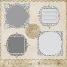 Layered Journal Templates 4 by Josy