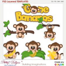 Monkey Gone Banana's Layered Element Templates
