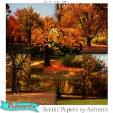 Scenic papers 19 Autumn by Kastagnette