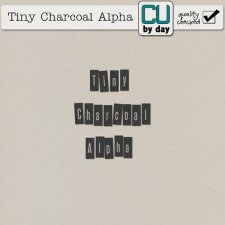 Tiny Charcoal Alphabet - CUbyDay EXCLUSIVE