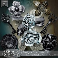 Designer Stash Vol 177 - Metallic Beauties No. 1 - by Feli Designs