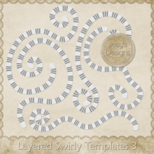 Layered Swirly Templates 3 by Josy