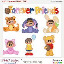 Forever Friends Layered Element Templates