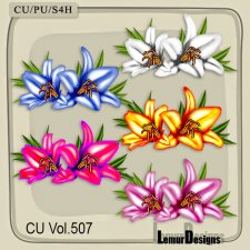 CU Vol 507 Lily Flowers by Lemur Designs