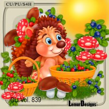 CU Vol 839 Hedgehog by Lemur Designs