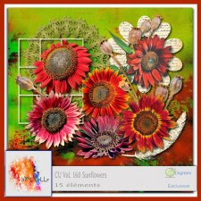 Vol 160 Sunflowers Elements EXCLUSIVE bymurielle