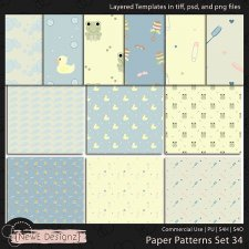 EXCLUSIVE Layered Paper Patterns Templates Set 34 by NewE Designz