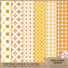 Pattern Genius Paper Volume Fourteen by Mad Genius Designs