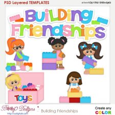 Building Friendships Layered Element Templates